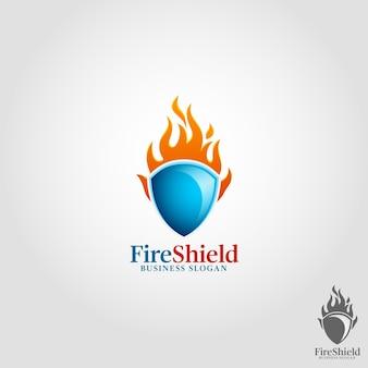 Szablon logo fire shield