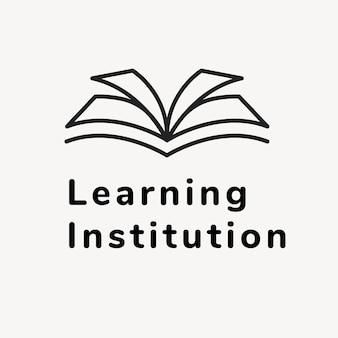 Szablon logo firmy edukacyjnej, wektor projektu marki, tekst instytucji uczącej się