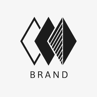 Szablon logo firmy minimalny projekt marki wektor