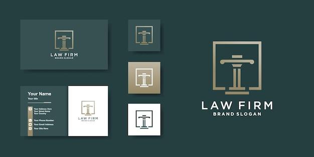 Szablon logo firmy prawniczej z nowoczesną koncepcją