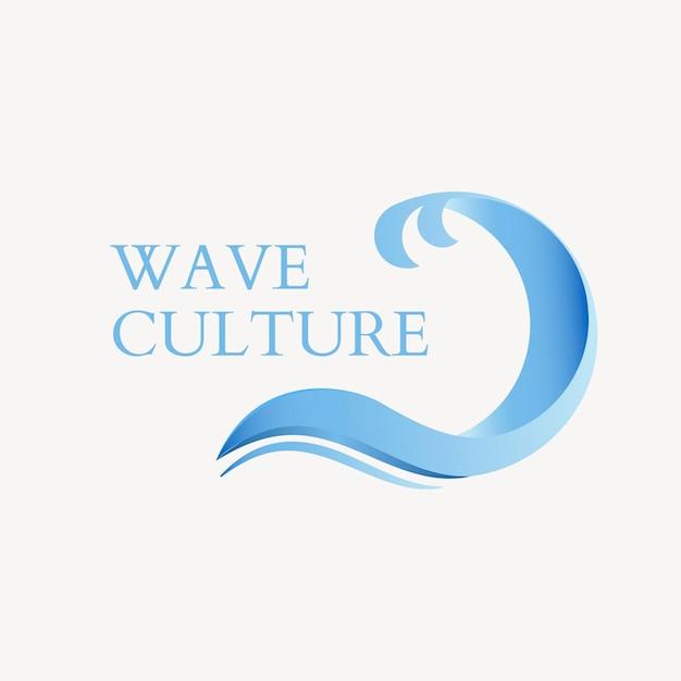Szablon logo firmy środowiska, niebieski nowoczesny wektor projektowania wody