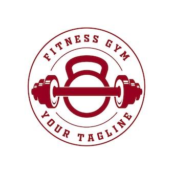 Szablon logo fitness w stylu płaskim