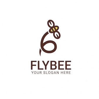 Szablon logo fly bee