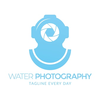 Szablon logo fotografii wody