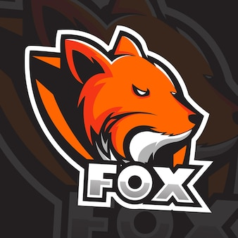 Szablon logo fox head, logo esport