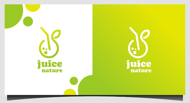 Szablon logo fresh juice nature juice