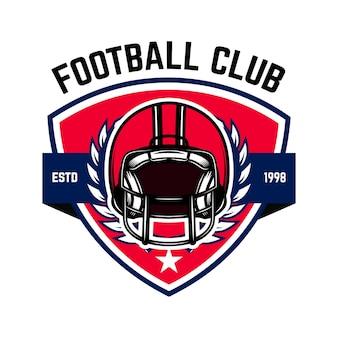 Szablon logo futbolu amerykańskiego.
