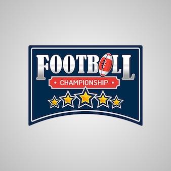 Szablon logo futbolu amerykańskiego