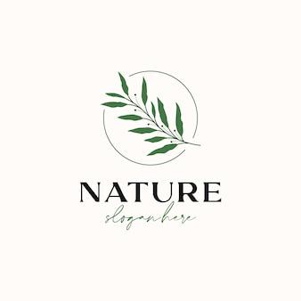 Szablon logo gałęzi oliwnej na białym tle