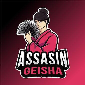 Szablon logo geisha assassin