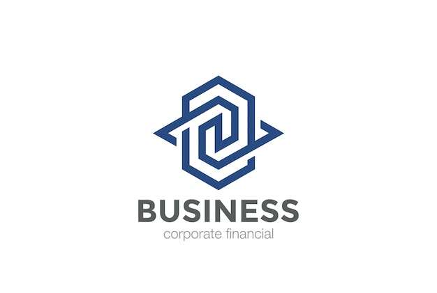 Szablon logo geometryczne abstrakcyjny kształt uniwersalny logo.