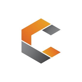 Szablon logo geometryczne litery c