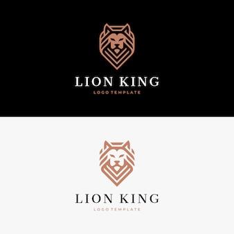 Szablon logo głowy lwa