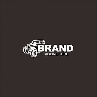 Szablon logo gorącej drogi samochód, styl retro logo, logo vintage. idealny dla całego przemysłu motoryzacyjnego.