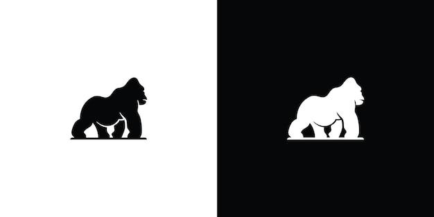 Szablon logo gorilla premium wektor