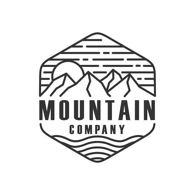Szablon logo góry czarno-białe