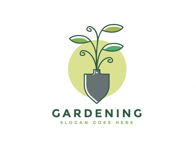 Szablon logo gospodarstwa i ogrodnictwo