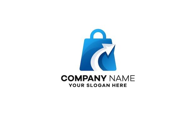 Szablon logo gradientowego sklepu sukcesu