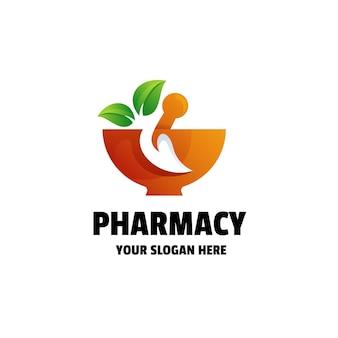 Szablon logo gradientu apteki lub zdrowia
