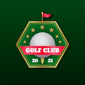 Szablon logo gradientu golfa