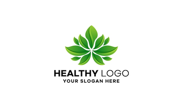 Szablon logo gradientu lotosu