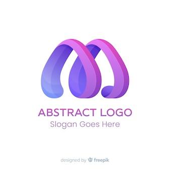 Szablon logo gradientu o abstrakcyjnym kształcie