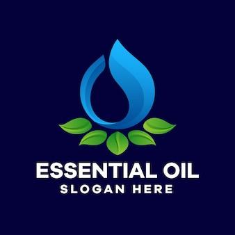 Szablon logo gradientu olejków eterycznych