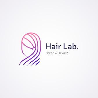 Szablon logo gradientu salon fryzjerski