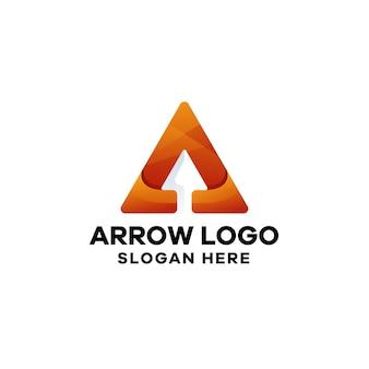 Szablon logo gradientu strzałki