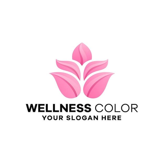 Szablon logo gradientu wellness