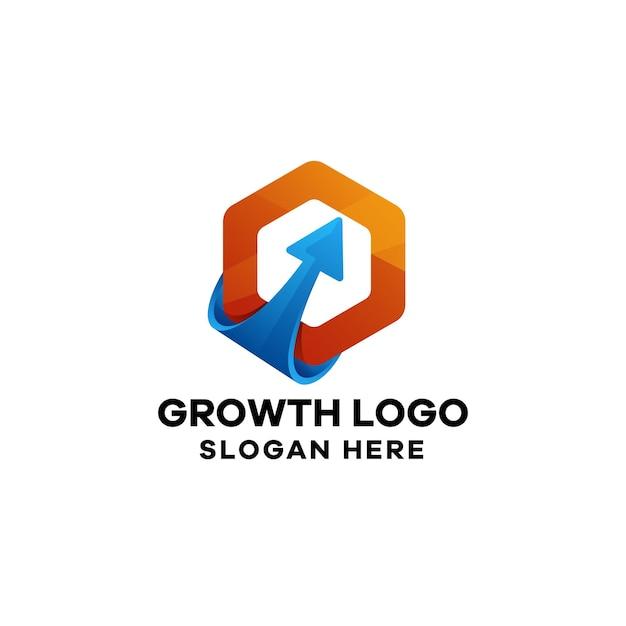Szablon logo gradientu wzrostu