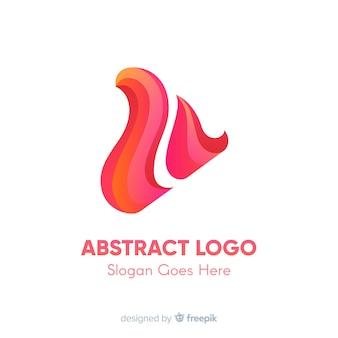 Szablon logo gradientu z abstrakcyjnym kształcie