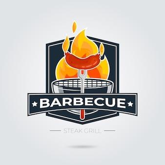 Szablon logo grilla ze szczegółami