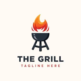 Szablon logo grilla