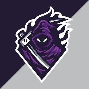 Szablon logo grim reaper esport