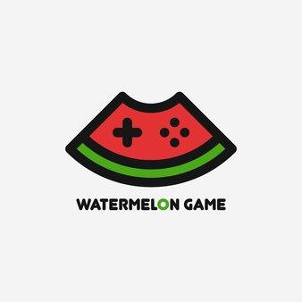 Szablon logo gry arbuz