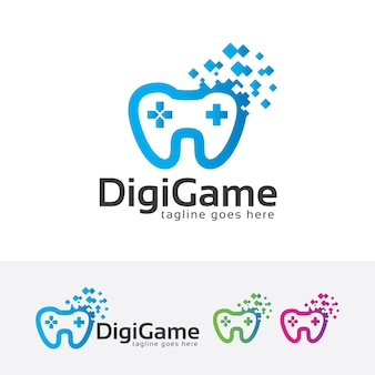 Szablon logo gry cyfrowej