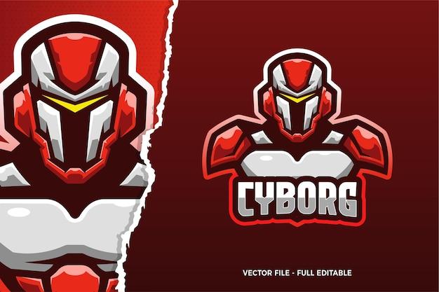 Szablon logo gry e-sport robot
