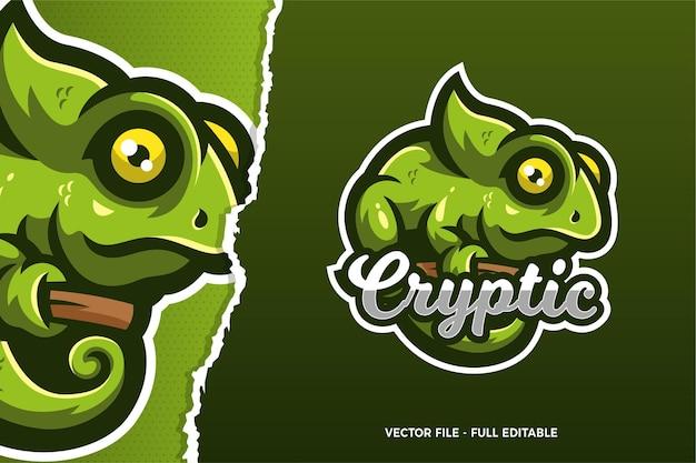 Szablon logo gry e-sportowej chameleon