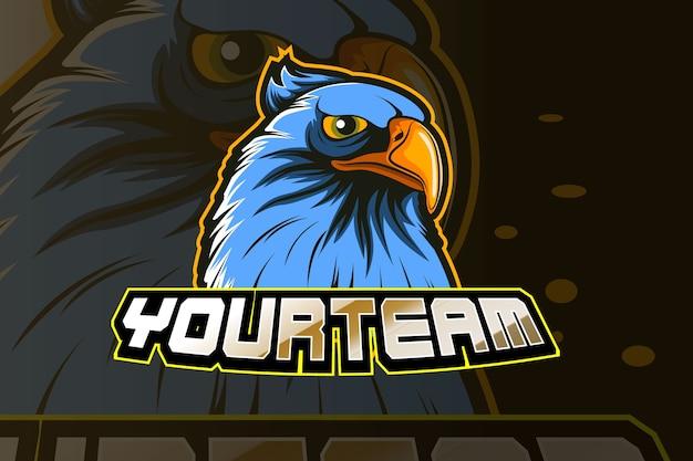 Szablon logo gry e-sportowej orzeł
