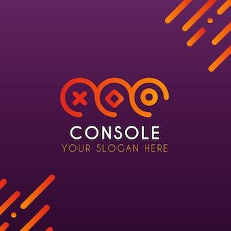 Szablon logo gry wideo w nowoczesnym stylu