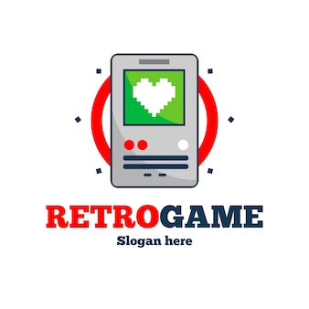 Szablon logo gry wideo w stylu retro
