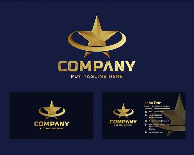 Szablon logo gwiazdy premium szablon dla firmy
