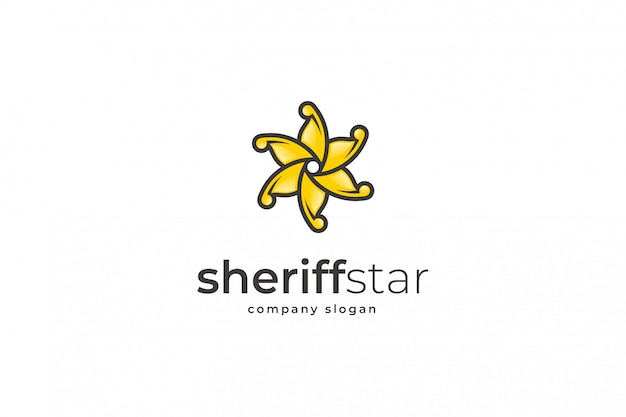 Szablon logo gwiazdy szeryfa