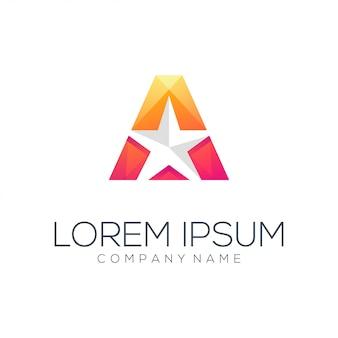 Szablon logo gwiazdy trójkąta