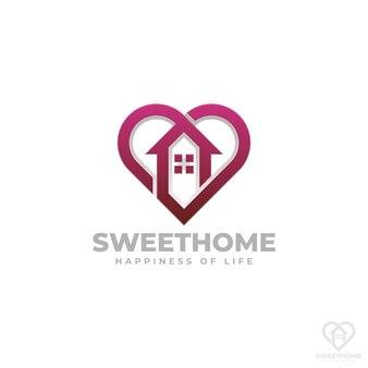 Szablon logo home sweet home