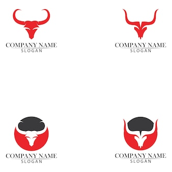 Szablon logo i symbole rogów byka