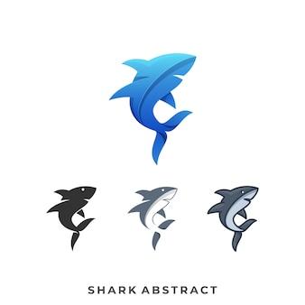 Szablon logo ilustracja rekin