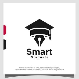 Szablon logo inteligentnej edukacji absolwentów