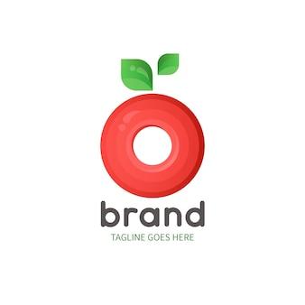 Szablon logo jabłko supermarket